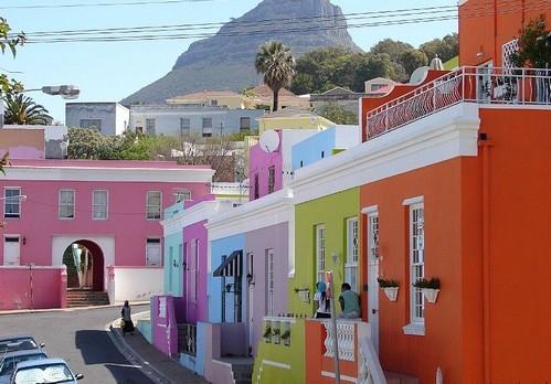 سیمان رنگی در نمای شهری