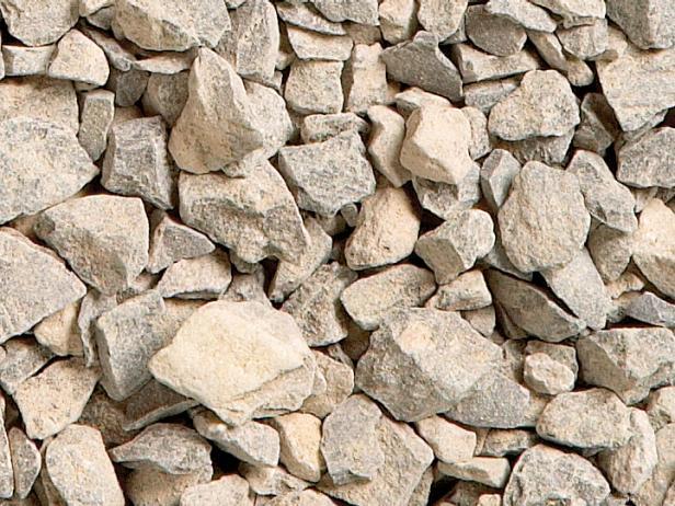 سنگ خرد شده خالص در ملات یا بتن