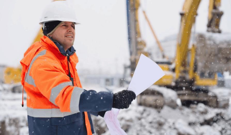 کاهش سرعت ساخت و ساز در زمستان